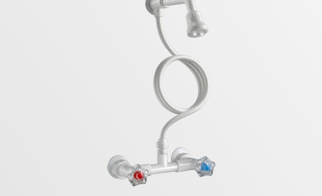 Mezcladora ducha exterior con duchador